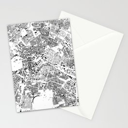 Berlin Map Schwarzplan Only Buildings Stationery Cards