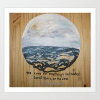 salt water Art Prints featuring Salt Water by Maura Hartzman