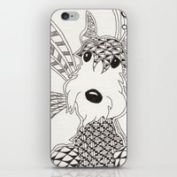 schnauzer iPhone & iPod Skins featuring Schnauzer by Noreen Loke