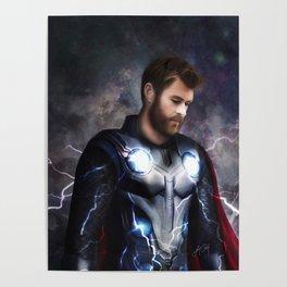 God of Thunder (Infinity War) Poster