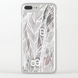 Earthy Feathers Clear iPhone Case