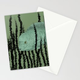 Under water Funky Fish Stationery Cards