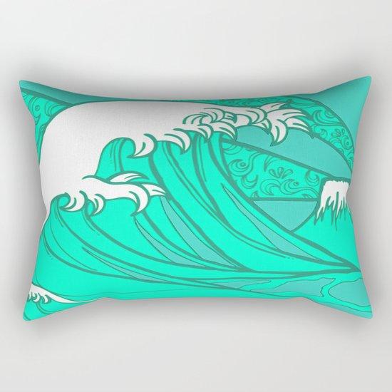 FRESH WAVE AND MOUNTAIN Rectangular Pillow