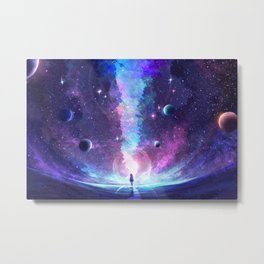 Starry Rupture Metal Print