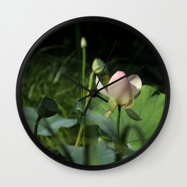 In Delicate Pinks Wall Clock