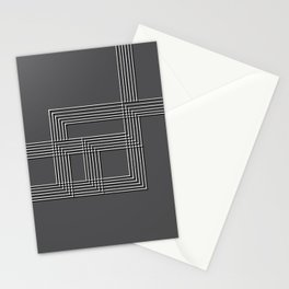 Parallel black white lines No. 01 Stationery Cards