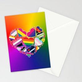 LGBTQA+ Community Pride Heart Stationery Cards