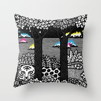 jungle Throw Pillows featuring Jungle by Heiko Windisch