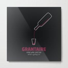 Grantaire Wine Metal Print