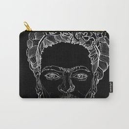 Geometric Black and White Drawing Frida Kahlo Carry-All Pouch
