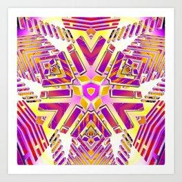 3D Fractal Lightwaves Art Print