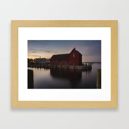 Motif #1 after sunset Framed Art Print
