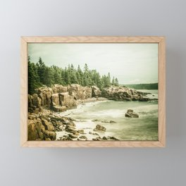 Acadia National Park Maine Rocky Beach Framed Mini Art Print