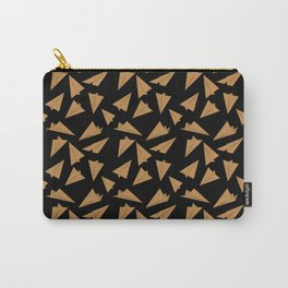 Paper Planes Pattern | Golden Black Carry-All Pouch