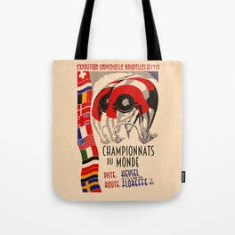 Retro cycling world championships 1935 Brussels Tote Bag