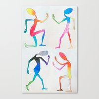 asexual Canvas Prints featuring Human Transitioning by aalexhayes