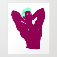 marc allante Art Prints featuring Marc-André by clemfaster