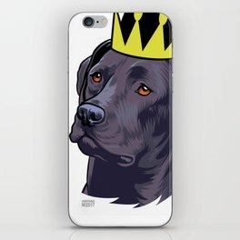 Labrador black king iPhone Skin