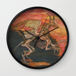 Lord of the Sunset Cliffs Wall Clock