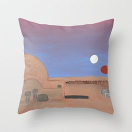 Setting of the Suns Throw Pillow