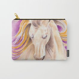 Andalusian Palomino Purple Watercolor Art Carry-All Pouch