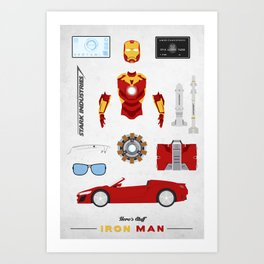 Hero's Stuff - Iron Man Art Print