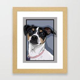 Hailey Dog Framed Art Print