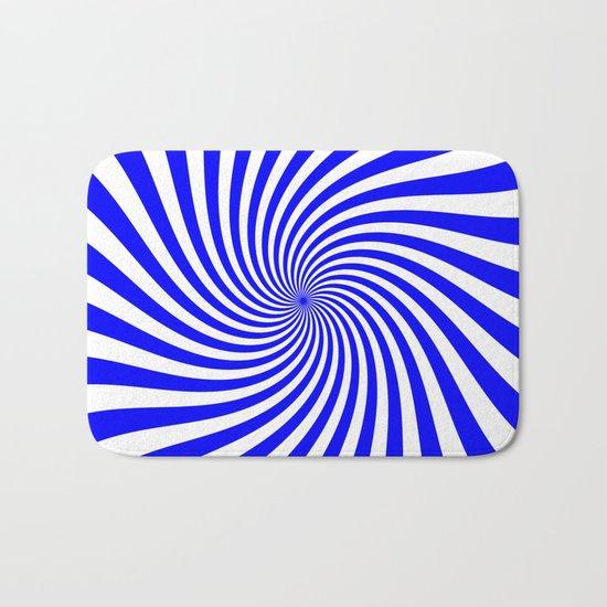 Swirl (Blue/White) Bath Mat