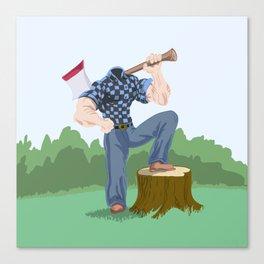 Headless Woodsman Canvas Print