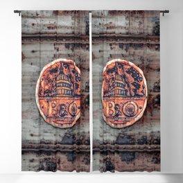 Rusted B&O Emblem Baltimore and Ohio Railroad Train Bridge Insignia Rust Blackout Curtain