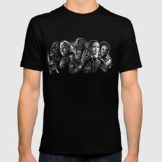 Freddy Krueger Jason Voorhees Michael Myers leatherface Darth Vader Blackest of the Black Mens Fitted Tee Black 2X-LARGE