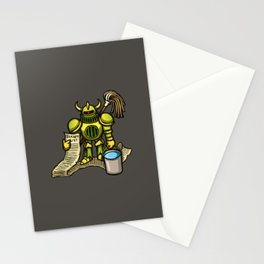 Bucket Knight Stationery Cards