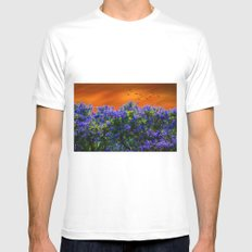 Purple forest Mens Fitted Tee White MEDIUM