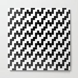 Symmetric patterns 139 black and white Metal Print