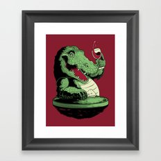 Party Croc Framed Art Print