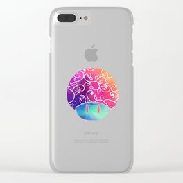 Psychedelic Tie-dye Shroomy Clear iPhone Case