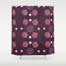 Red and Purple DnD Dice Shower Curtain