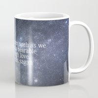 sagan Mugs featuring Carl Sagan and the Milky Way by Astrophotos by McLeod