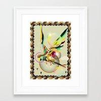 parrot Framed Art Prints featuring PARROT by Mathis Rekowski