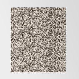 BLACK and WHITE LEOPARD PRINT – Ecru | Collection : Leopard spots – Punk Rock Animal Prints. Throw Blanket