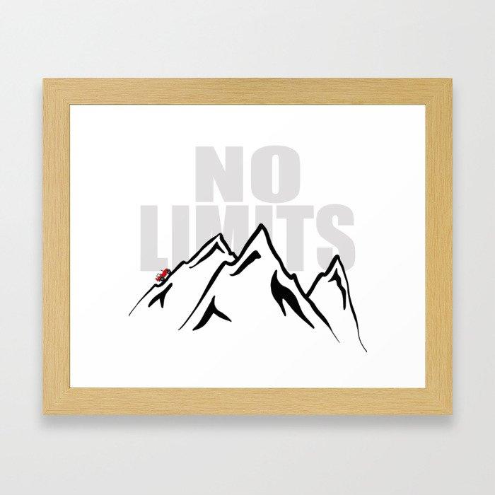 Jeep climb - No limits (Red) Framed Art Print
