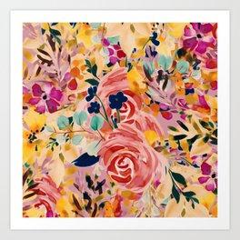 Sprinkle Blooms Art Print