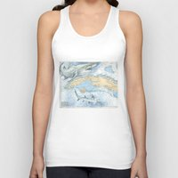 cuba Tank Tops featuring Cuba Sharks by Carly Mejeur