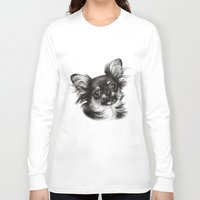 chihuahua Long Sleeve T-shirts featuring Chihuahua by Danguole Serstinskaja