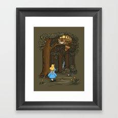 My Neighbor in Wonderland Framed Art Print