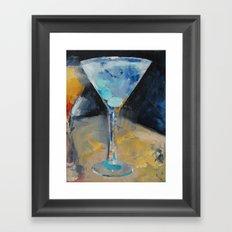 Blue Art Martini Framed Art Print