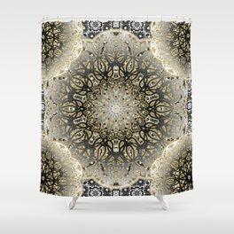 Gilded Nouveau Mandala Shower Curtain