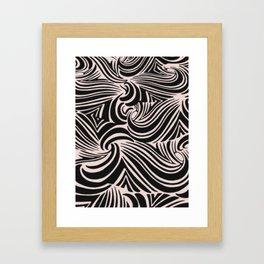 the big swirl Framed Art Print
