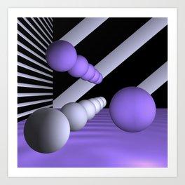 3D-geometry -8- Art Print