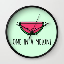 One in a Melon! Wall Clock